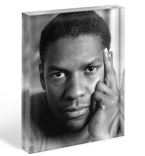 Denzel Washington Acrylic Block - Canvas Art Rocks - 1