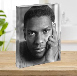 Denzel Washington Acrylic Block - Canvas Art Rocks - 2