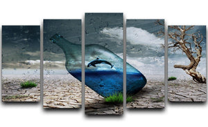 Desert In A Bottle 5 Split Panel Canvas  - Canvas Art Rocks - 1