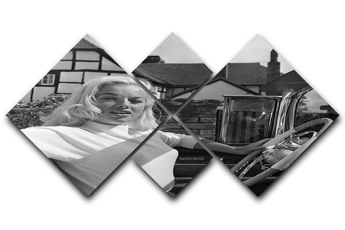 Diana Dors in her car 4 Square Multi Panel Canvas