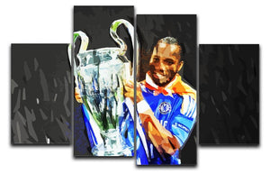 Didier Drogba Champions League 4 Split Panel Canvas  - Canvas Art Rocks - 1