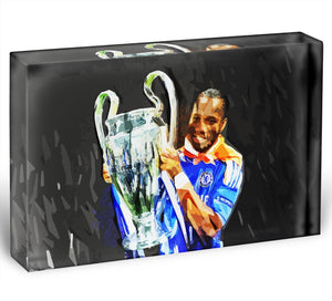 Didier Drogba Champions League Acrylic Block - Canvas Art Rocks - 1