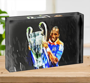 Didier Drogba Champions League Acrylic Block - Canvas Art Rocks - 2