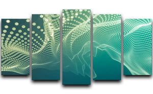 Dimensional Dots 5 Split Panel Canvas - Canvas Art Rocks - 1
