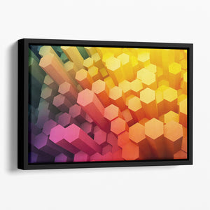 Dimensional Hexagons Floating Framed Canvas - Canvas Art Rocks - 1