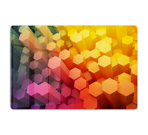Dimensional Hexagons HD Metal Print - Canvas Art Rocks - 1