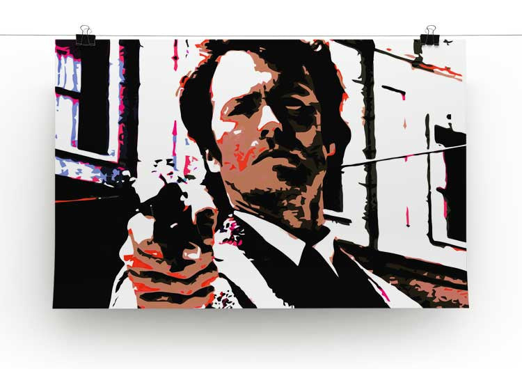 Dirty Harry Feelin' Lucky Punk Print - Canvas Art Rocks - 2