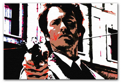 Dirty Harry Feelin' Lucky Punk Print - Canvas Art Rocks - 1