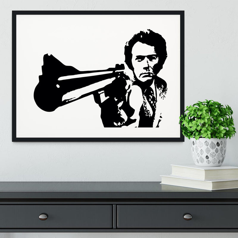Dirty Harry Framed Print - Canvas Art Rocks - 1