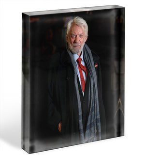 Donald Sutherland Acrylic Block - Canvas Art Rocks - 1