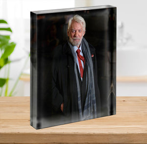 Donald Sutherland Acrylic Block - Canvas Art Rocks - 2