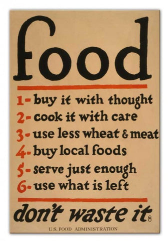 Food (Don't Waste It) Print - They'll Love Wall Art - 1