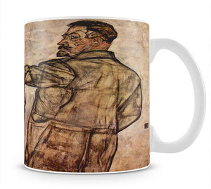 Double Portrait of Heinrich Bensch and his Son Otto by Egon Schiele Mug - Canvas Art Rocks - 1