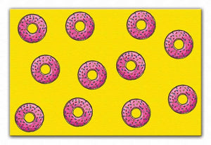 Doughnut Pattern Print - Canvas Art Rocks - 1