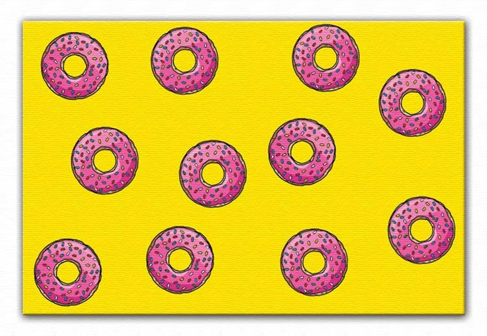 Doughnut Pattern Canvas Print or Poster
