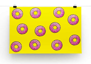 Doughnut Pattern Print - Canvas Art Rocks - 2