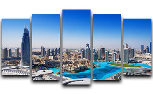 Downtown Dubai 5 Split Panel Canvas  - Canvas Art Rocks - 1