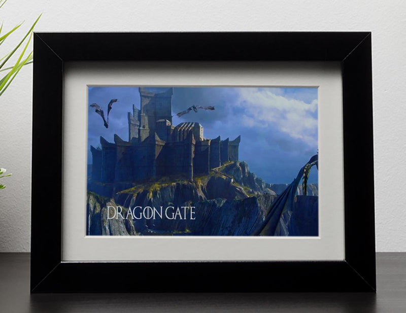 Dragon Gate Game Of Thrones Framed Print - Canvas Art Rocks - 1