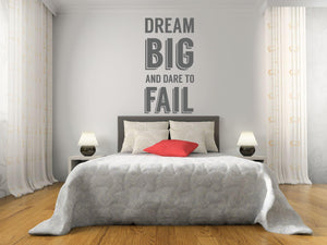 Dream Big Wall Sticker - Canvas Art Rocks - 1