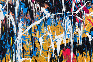 Dripping paint graffiti Wall Mural Wallpaper - Canvas Art Rocks - 1