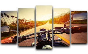 Driver riding motorbike 5 Split Panel Canvas  - Canvas Art Rocks - 1