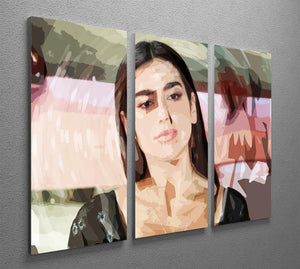 Dua Lipa Pop Art 3 Split Panel Canvas Print - Canvas Art Rocks - 2