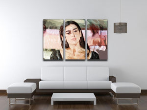 Dua Lipa Pop Art 3 Split Panel Canvas Print - Canvas Art Rocks - 3