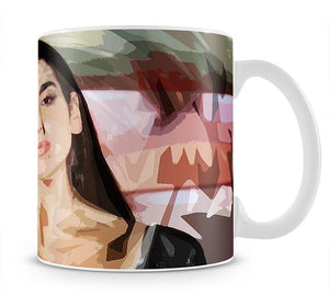 Dua Lipa Pop Art Mug - Canvas Art Rocks - 1