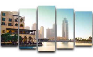 Dubai downtown at sunset 5 Split Panel Canvas  - Canvas Art Rocks - 1