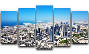 Dubai downtown top view 5 Split Panel Canvas  - Canvas Art Rocks - 1