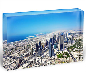 Dubai downtown top view Acrylic Block - Canvas Art Rocks - 1