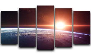 Earth Sunrise 5 Split Panel Canvas  - Canvas Art Rocks - 1