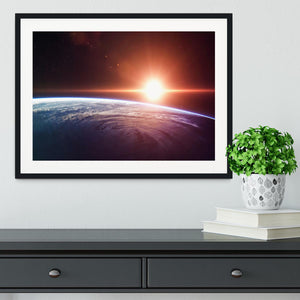 Earth Sunrise Framed Print - Canvas Art Rocks - 1