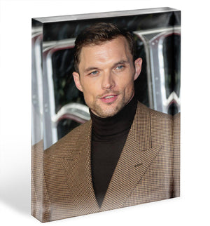 Ed Skrein Acrylic Block - Canvas Art Rocks - 1