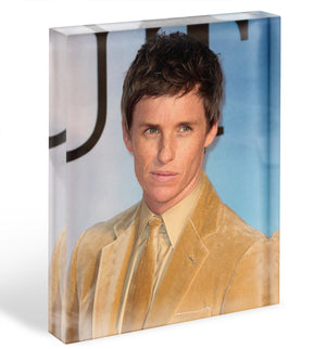 Eddie Redmayne Acrylic Block - Canvas Art Rocks - 1