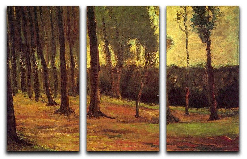 Edge of a Wood by Van Gogh 3 Split Panel Canvas Print - Canvas Art Rocks - 4