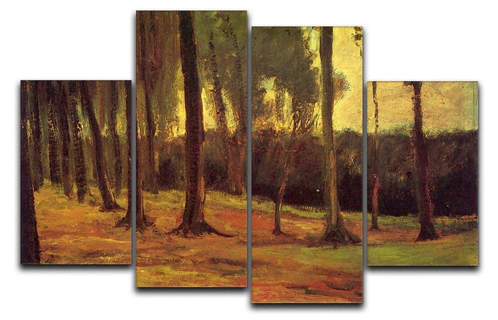 Edge of a Wood by Van Gogh 4 Split Panel Canvas