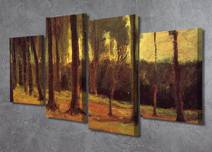 Edge of a Wood by Van Gogh 4 Split Panel Canvas - Canvas Art Rocks - 2