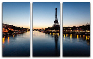 Eiffel Tower and d 3 Split Panel Canvas Print - Canvas Art Rocks - 1
