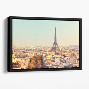 Eiffel tower at sunset Floating Framed Canvas