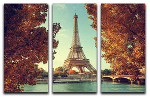 Eiffel tower in autumn time 3 Split Panel Canvas Print - Canvas Art Rocks - 1