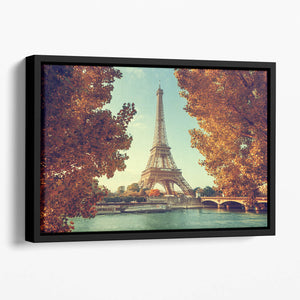 Eiffel tower in autumn time Floating Framed Canvas