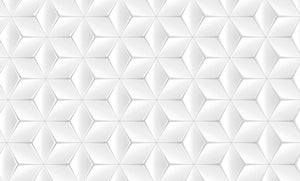 Elegant White Geometric Background Wall Mural Wallpaper - Canvas Art Rocks - 1