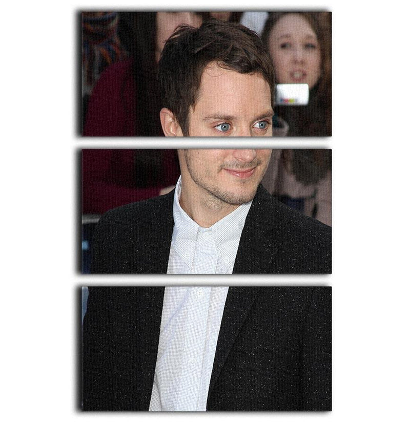 Elijah Wood 3 Split Panel Canvas Print - Canvas Art Rocks - 1