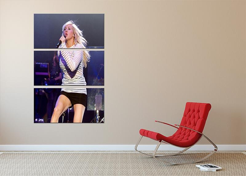 Ellie Goulding on stage 3 Split Panel Canvas Print - Canvas Art Rocks - 2