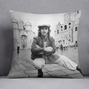 Elton John in Red Square Cushion