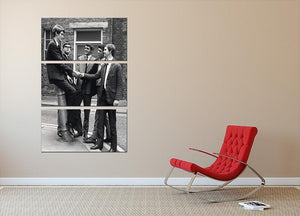 Elton John with his early group Bluesology 3 Split Panel Canvas Print - Canvas Art Rocks - 2