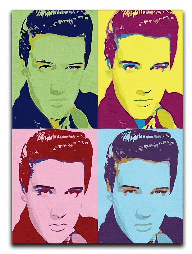 ELVIS PRESLEY POP ART CANVAS WALL ART PICTURE PRINT VARIETY OF SIZES FREE UK P/&P