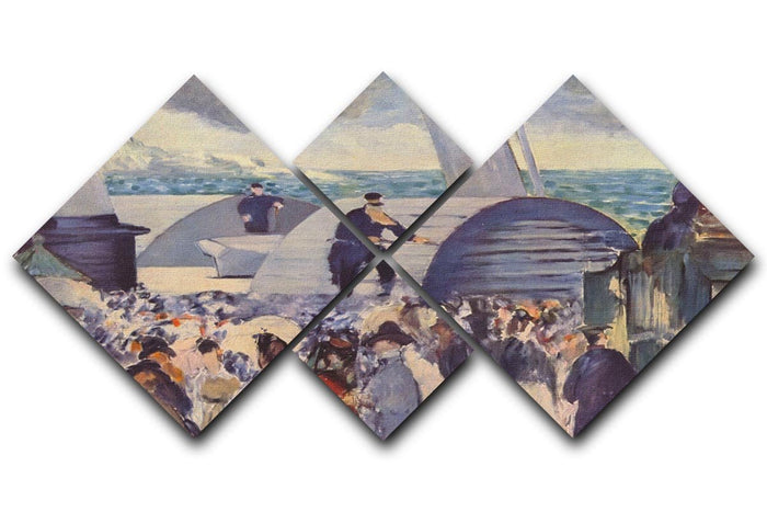 Embarkation of the Folkestone by Manet 4 Square Multi Panel Canvas