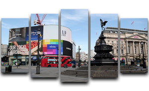 Empty Piccadilly Circus London under Lockdown 2020 5 Split Panel Canvas - Canvas Art Rocks - 1